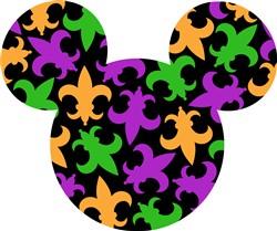 Fleur Dis Lys Mickey print art