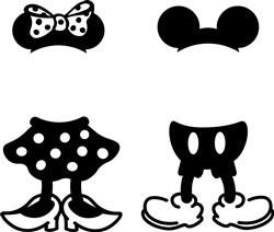 Mickey & Minnie Clothes print art