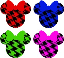 Minnie Mouse Heads print art