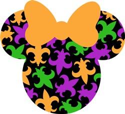 Mardi Gras Minnie print art