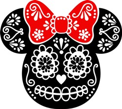 Day Of Dead Minnie print art