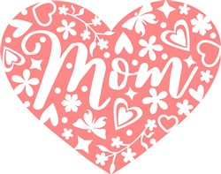 Heart Mom print art