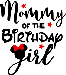 Birthday Girl Mommy print art