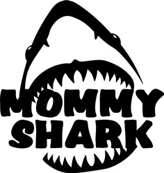 Mommy Shark print art