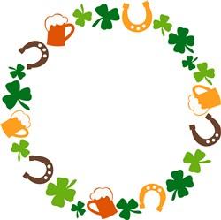 Irish Wreath print art