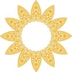 Sunflower Monogram print art