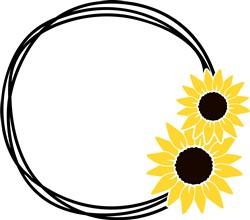 Sunflower Wreath print art