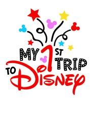 1st Disney Trip print art