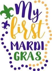 First Mardi Gras print art