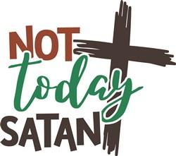 Not Today Satan print art