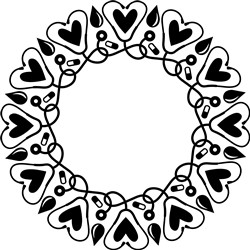 Heart Wreath print art