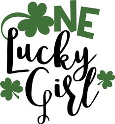 One Lucky Girl print art