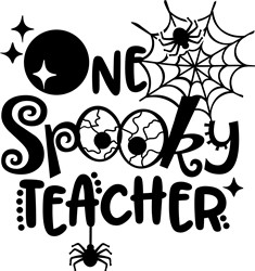 Spooktacular Teacher print art