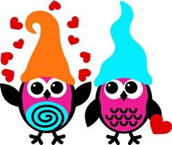Valentine Owls print art