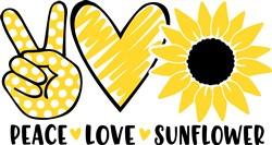 Peace Love Sunflower print art