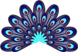 Peacock Feathers print art