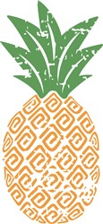 Grunge Pineapple print art