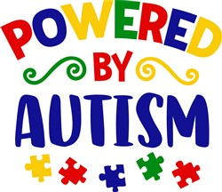 Powered By Autism print art