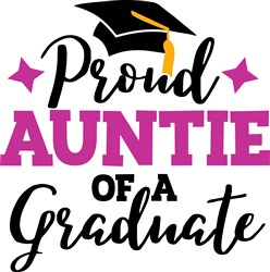 Auntie Of Graduate print art