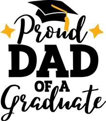 Dad Of Graduate print art