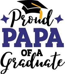 Papa Of Graduate print art