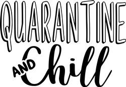 Quarantine & Chill print art