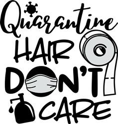 Quarantine Hair print art