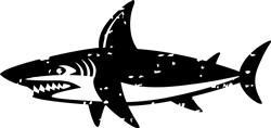 Grunge Shark print art