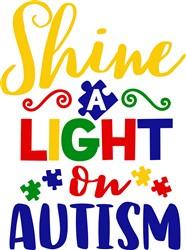 Light On Autism print art