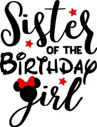 Sister Of Birthday Girl print art