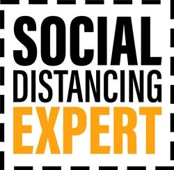 Social Distancing Expert print art
