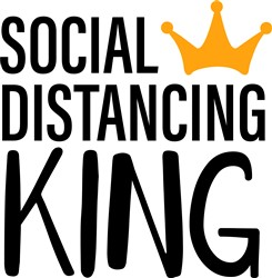 Social Distancing King print art