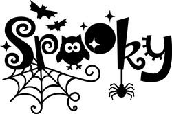 Spooky print art