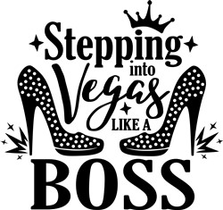 Stepping Into Vegas print art