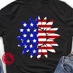 Patriotic Sunflower print art