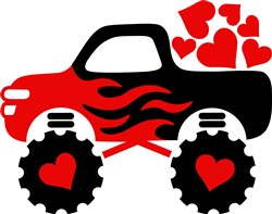 Valentine Truck print art