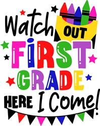 Watch Out First Grade print art