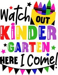 Watch Out Kindergarten print art