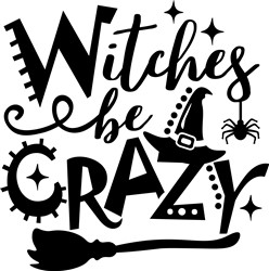 Witches Be Crazy print art