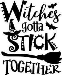Witches Stick Together print art