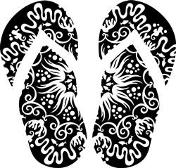 Fancy Flip Flops print art