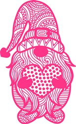 Red Heart Gnome print art