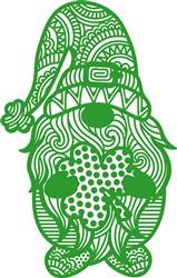 Green Shamrock Gnome print art