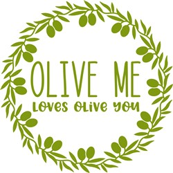 Loves Olive You print art