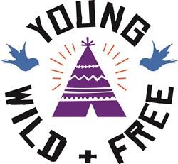 Young Wild Free print art