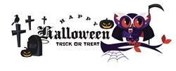 Happy Halloween Owl print art