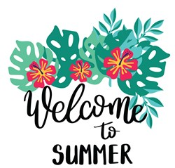 Welcome To Summer print art