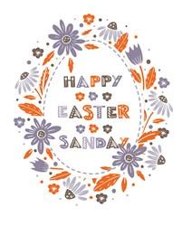 Happy Easter Sunday print art