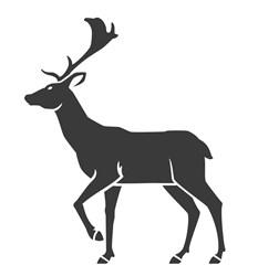 Deer Silhouette print art
