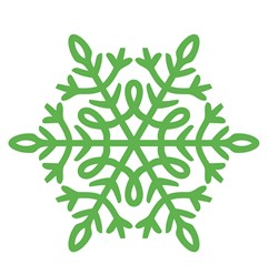 Winter Snowflake print art